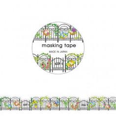 Rouleau de Washi Tape Japonais avec pour motifs des grilles de jardin végétalisées.