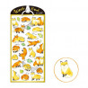 Planche de plus de 25 Stickers avec comme thème des petits renards.